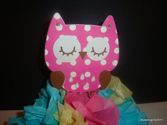 Woodland Creatures Owl  Centerpiece Decoration KIT by blueskygirls, $7.00