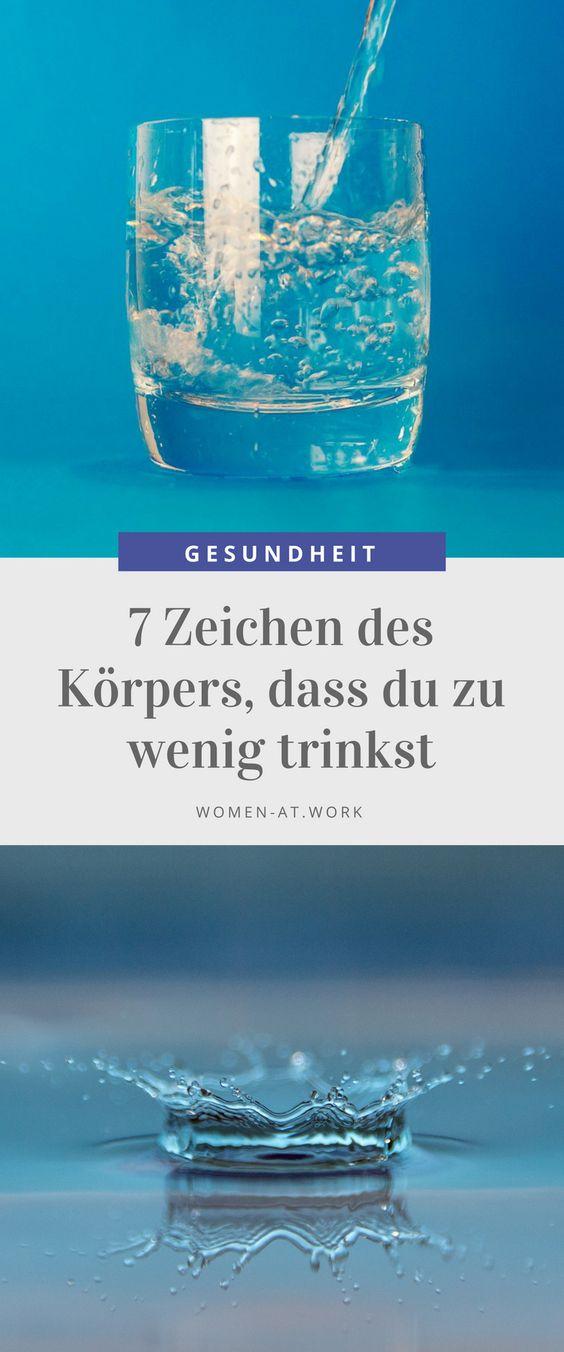 7 Zeichen des Körpers, dass du zu wenig trinkst