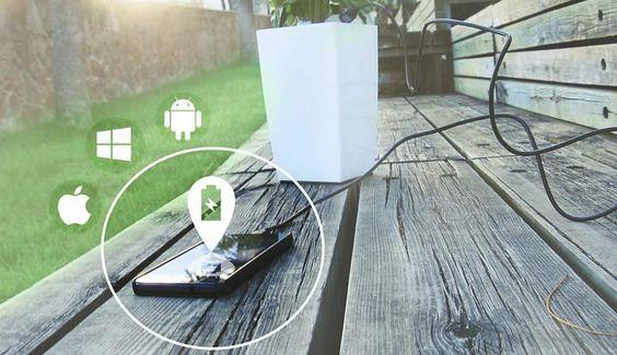 Así es la maceta capaz de recargar cualquier móvil varias veces al día | 20minutos.es