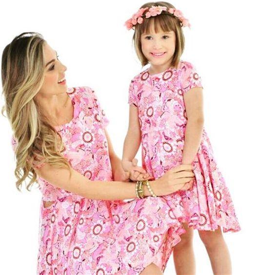 Vestido Floral Filha | Mãe & Filha | mariahflor:
