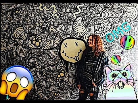 Huge Trippy Wall Drawing Timelapse Youtube Wall Drawing