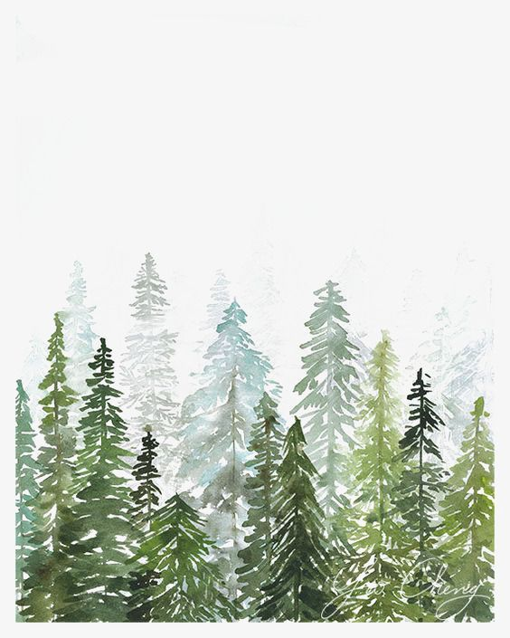 View Forest Watercolor Clipart