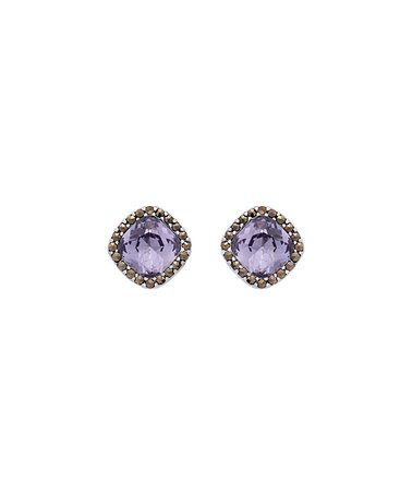 Look what I found on #zulily! Tanzanite & Marcasite Cushion-Cut Stud Earrings #zulilyfinds