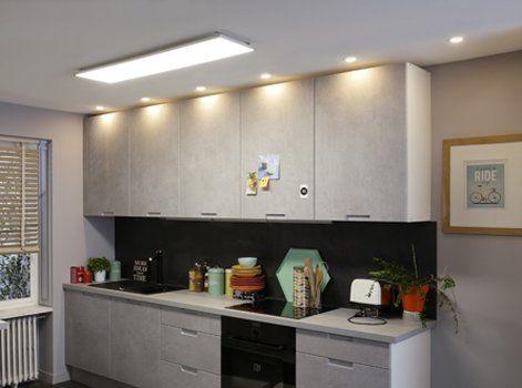 Tout Savoir Sur L Eclairage Dans La Cuisine Plafonnier Led Cuisine Plafonds Bas Cuisines Design
