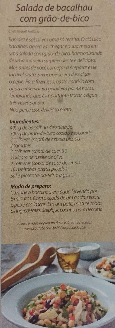 SALADA DE BACALHAU COM GRÃO-DE-BICO