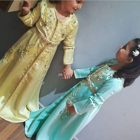 263 Mentions J Aime 7 Commentaires جلابيات مغربية للطلب Caftanhiba Sur Instagram Kids Dress Moroccan Caftan Fashion Dresses
