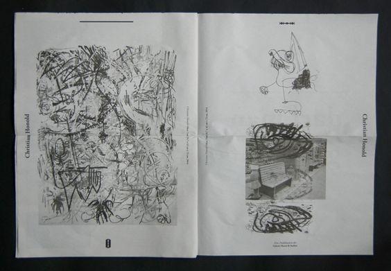 Art newspaper for Galerie Huren & Soehne by deshalb. | Désha Nujsongsinn   #deshalb #deshalbpunkt
