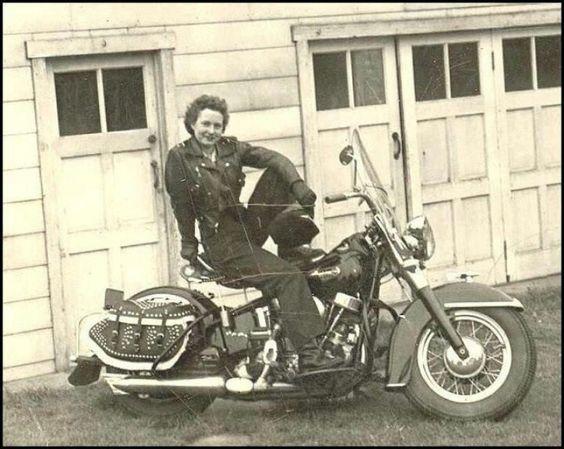 Old School Women On Motorcycles | Old school