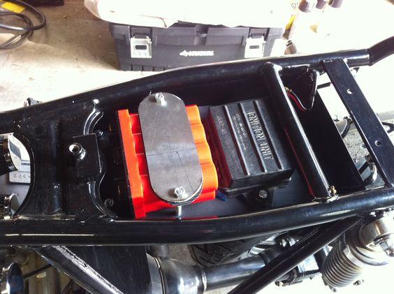 Cafe Racer Battery : Brat style battery box google search cafe racer