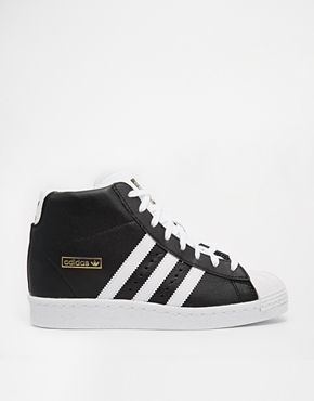 adidas superstar hi top black trainers