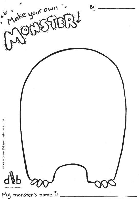 Make Your Own Monster Template Baby Playmat Monster