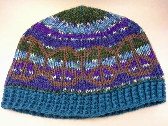 A Peaceful Hat in Tunisian Crochet by MiniatureMonkeyCreations, $35.00 USD, custom crocheted in your choice of colors
