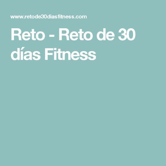 Reto - Reto de 30 días Fitness
