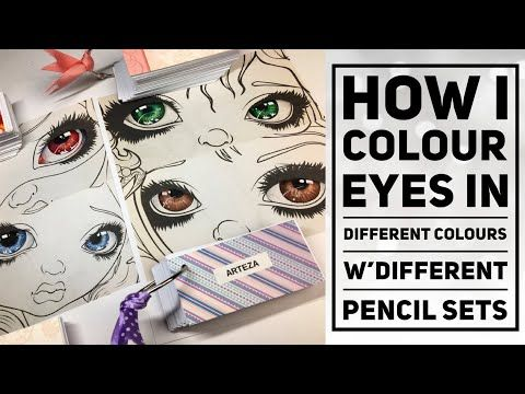 How I Colour Different Eye Colours In Colour Books Youtube Coloring Books Arteza Eye Color