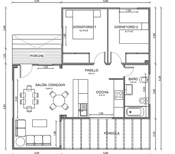 Romer (romeroruro12) on Pinterest - maison de 100m2 plan