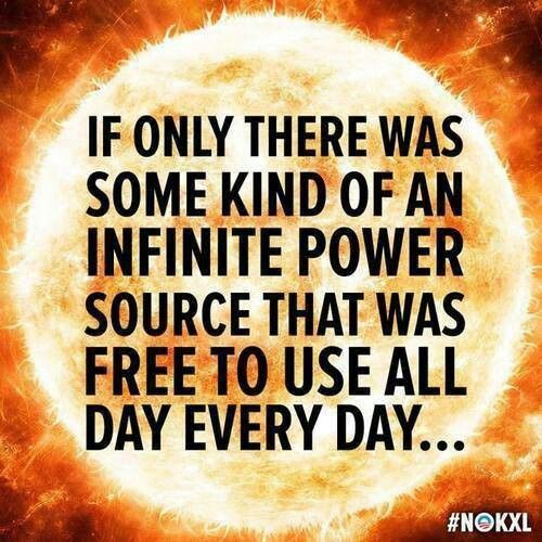 The power of the sun!