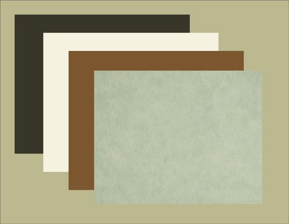 light green, brown, white and black blotter paper refills