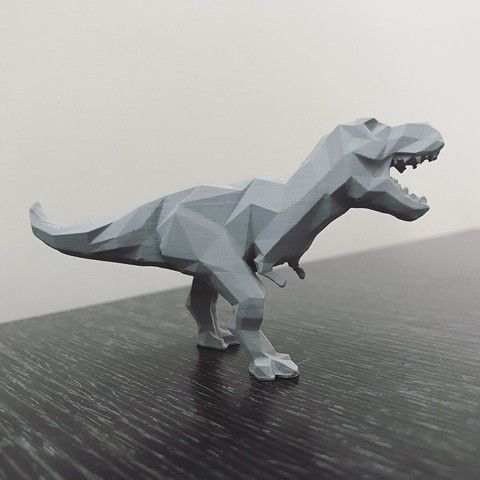 Low Poly T Rex Stl File Wonglk519 3d Printing Diy Low Poly Art Low Poly