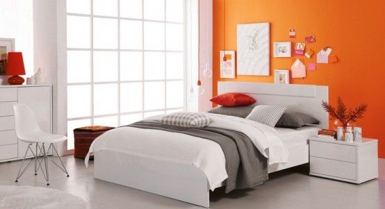 Orange Accents In Bedrooms – 68 Stylish Ideas | DigsDigs ...