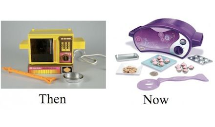 Evolution and unnecessary girliness of the Easy Bake Oven