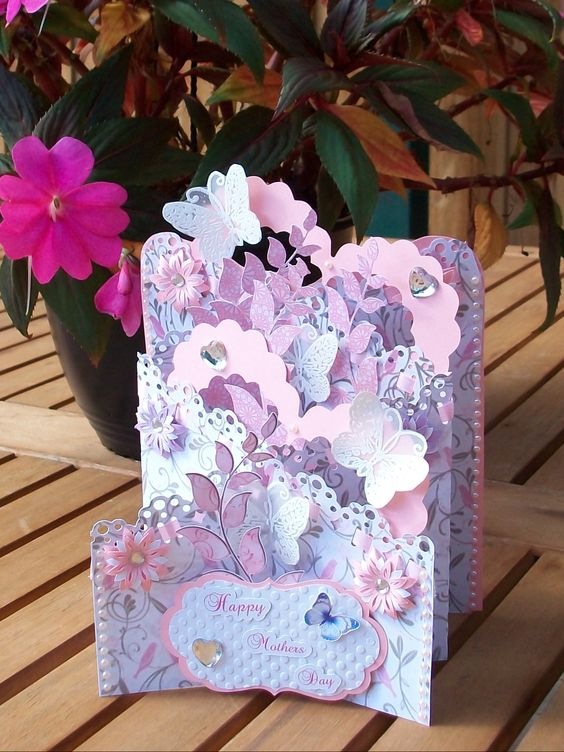Cascade card. Mother's Day.