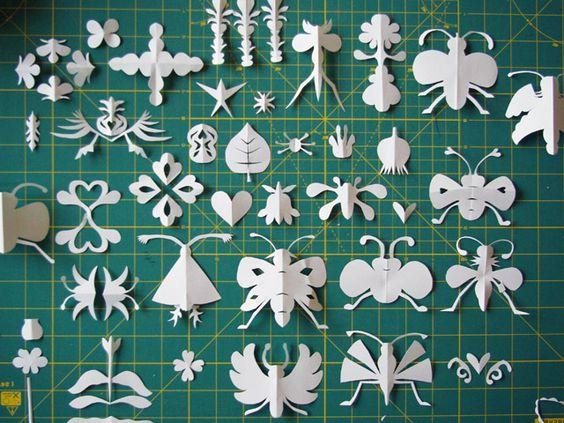 paper cuts white by herzensart, via Flickr