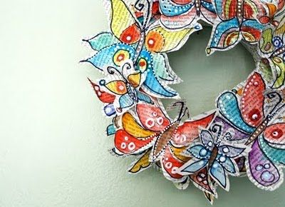 crafter-holic!: butterfly paper wreath