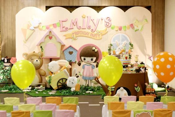 Incredible bunny birthday party! See more party ideas at CatchMyParty.com!