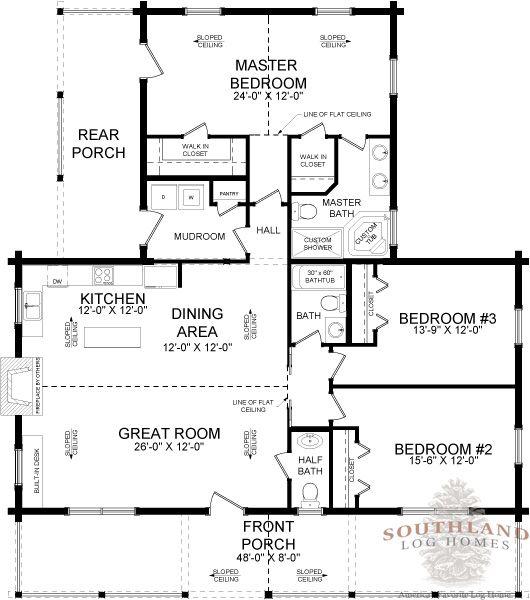 Danbury - Log Home Plan | Southland Log Homes