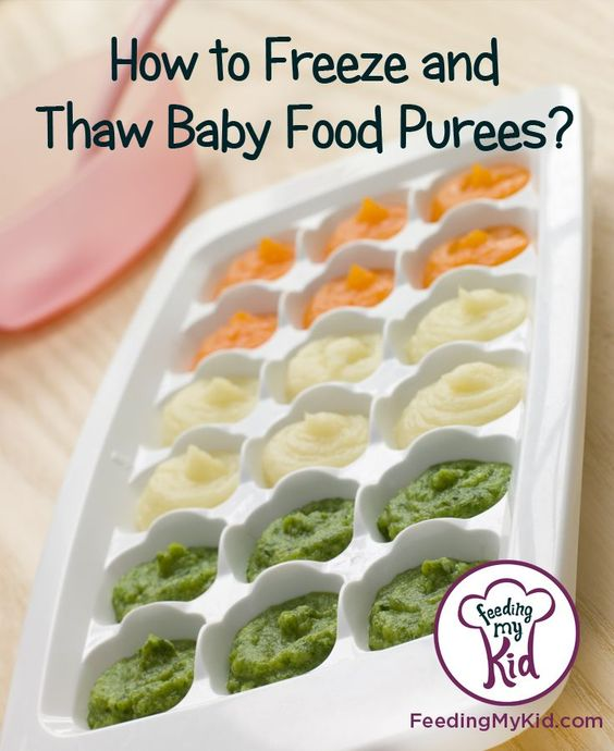 How to Thaw and Freeze Baby Food Puree.  Find out how to make and store baby food? Introducing Solids To Your Baby.