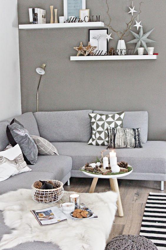 Wohnzimmer. #Wohnzimmer #Wohnung #Immobilienscout24 >> Wohnen in grau ...
