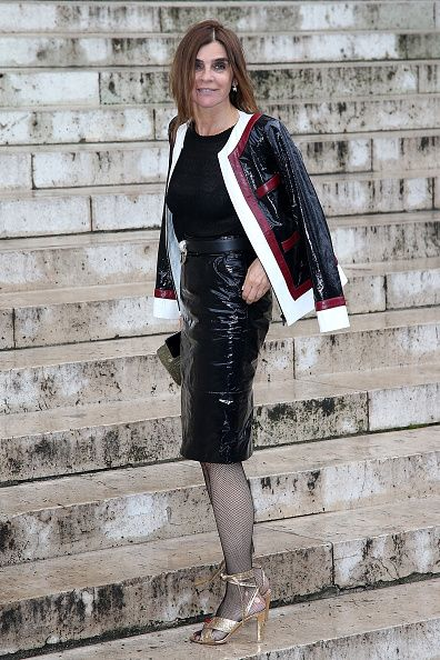 Carine Roitfeld attends the Atelier Versace Haute Couture Fall/Winter 20162017 show as part of Paris Fashion Week on July 3 2016 in Paris France