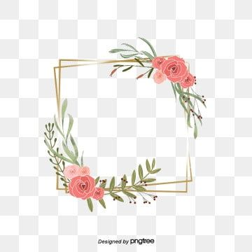 Beautiful Flowers And Leaves Painting The Border Flower Wreath Red Png Transparent Clipart Image And Psd File For Free Download In 2020 Flower Frame Png Vector Flowers Floral Logo Design