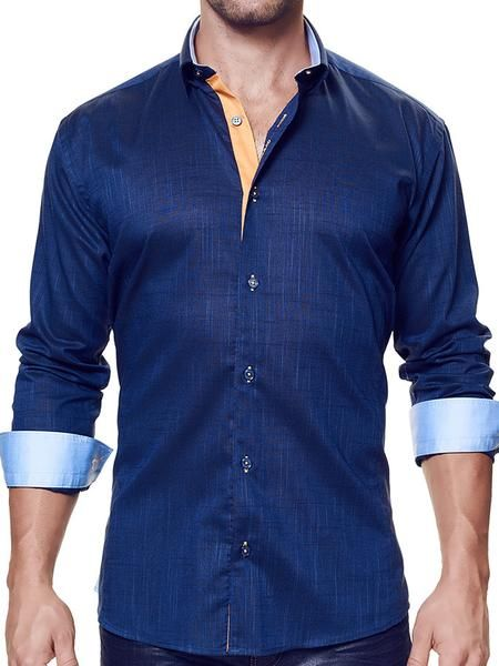 This dress shirt by MACEOO is crafted from luxe 100% linenfor exceptional comfort. The tailoring walks the line between a classic and a trim fit perfectly, wit