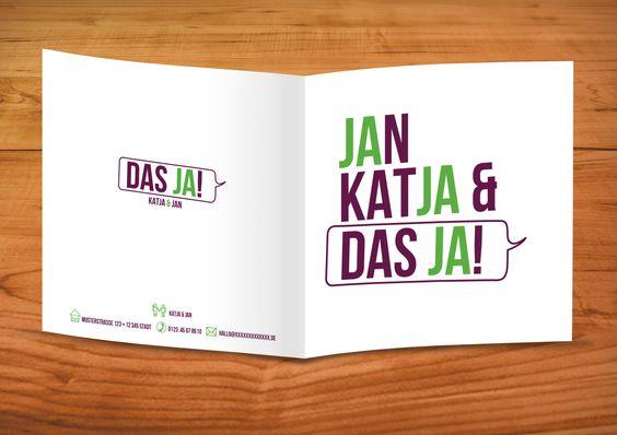 """Ein """"JA"""" zum Heiraten: Das war die Idee zur Einladungskarte. Von Enrio Hoppe ( http://www.e-hoppe.de/) und Erik Höhn (http://www.xing.com/profile/ErikC_Hoehn)"""