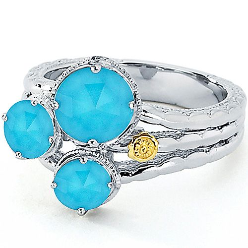 SR13605 Tacori 18k925 Island Rains Ring for about $280
