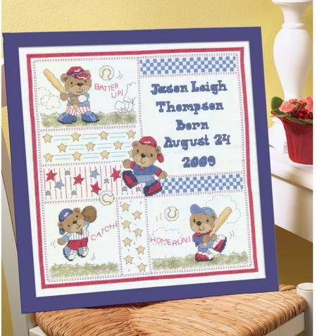 Baby Birth Announcements Cross Stitch Patterns Kits – Baby Birth Announcement Cross Stitch Patterns