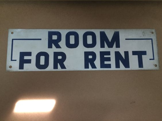 Vintage 1950's Wall Signs  Room for Rent by EmpireAntiqueCo