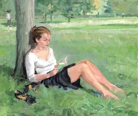 Woman reading - Nick Botting
