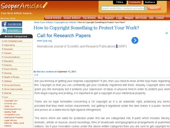 How To Protect Your Artistic Work Using Copyright Law  Legal