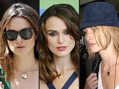 Keira Knightley Gold Disk Celebrity Jewellery