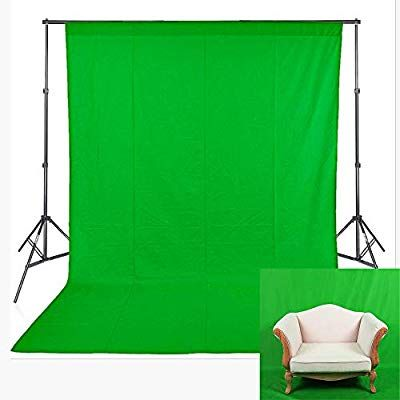 Amazon Com Fhzon Green Screen With Pocket Backdrop Polyester Fabric Machine Washable Background Solid Color Pure Green Screen Backdrop Greenscreen Backdrops