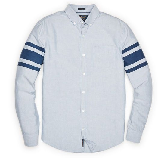 BRUSHED OXFORD SHIRT WITH SLEEVE STRIPE