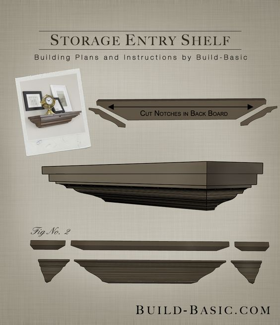Hidden Storage In This Diy Crown Molding Shelf Click The