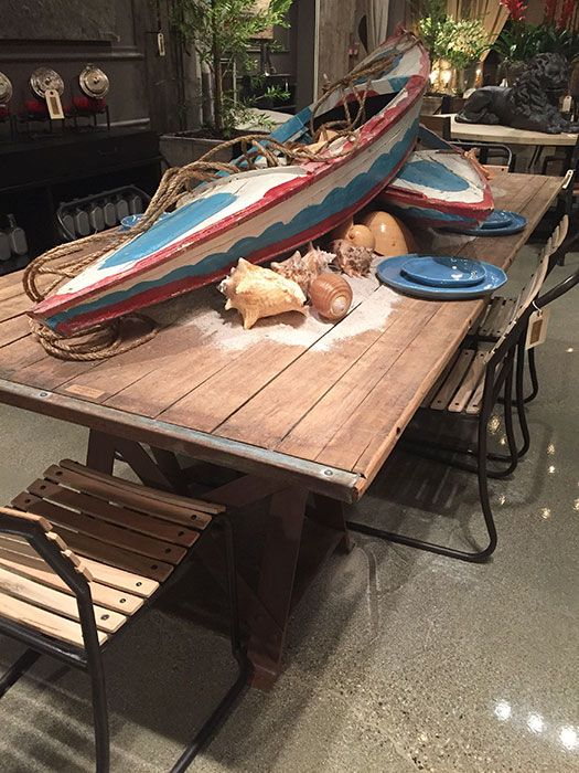 We love everything! Especially the #beach display! #LVMkt (August 2015) #table #dining