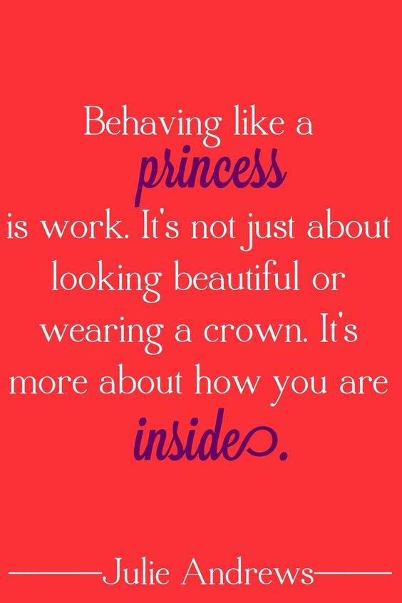 Julie Andrews on being a princess: