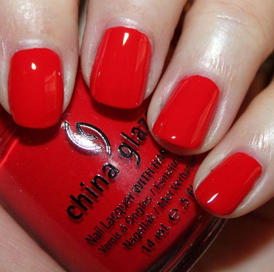 China Glaze Red Nail Polish: China Glaze Hey Sailor. Perfect Red Nailpolish.