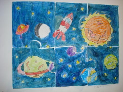 art visuel : système solaire 3D