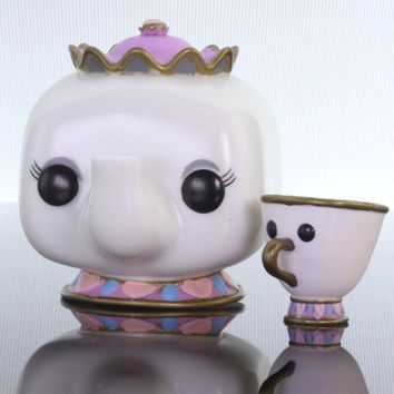 Funko Pop Disney, The Beauty and the Beast, Mrs. Potts and Chip #92