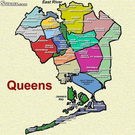 Queens Is The Easternmost Of The Five Boroughs Of New York City The - Asp map nyc